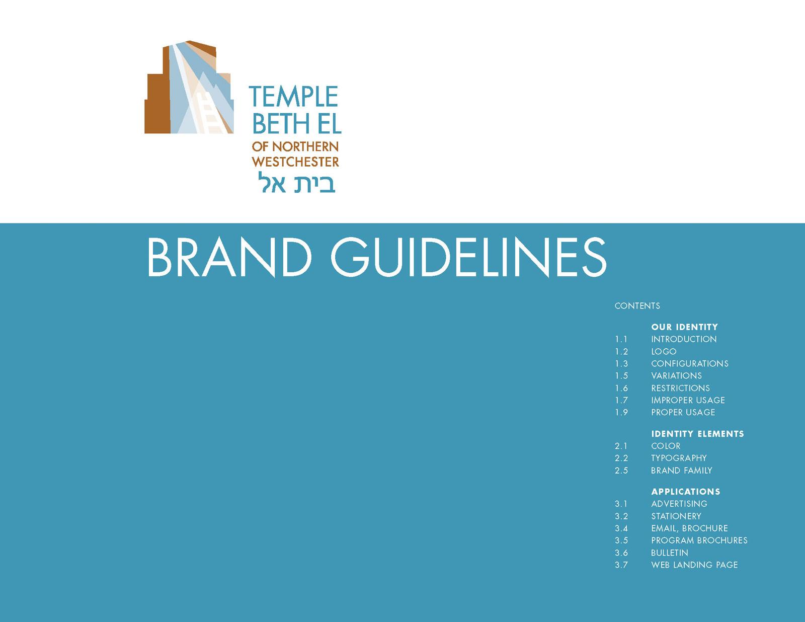 Roher/Sprague Partners - Temple BethEl Brand Guidelines