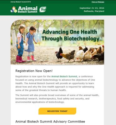 Animal Biotech Summit Email