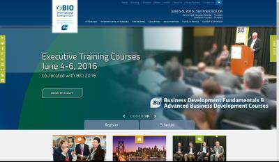 BIO Executive Training website leaderboard slider