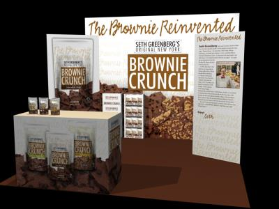 Brownie Crunch Trade Show Booth